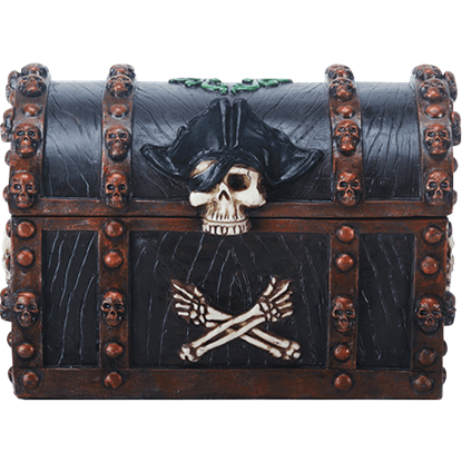 Skull and Crossbones Pirate Chest