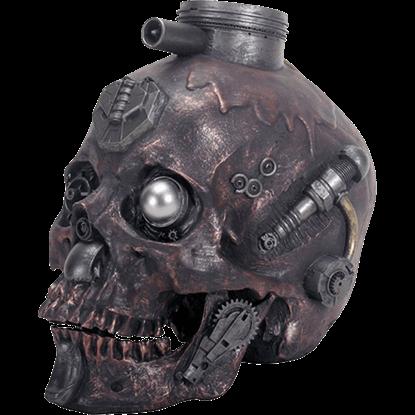 Dark Metallic Machine Skull