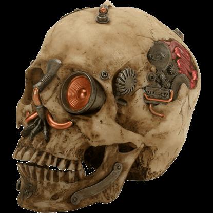 Copper Detail Cyborg Skull