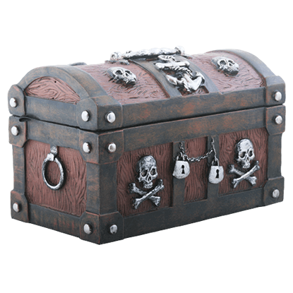 Anchor and Bones Pirate Trinket Box
