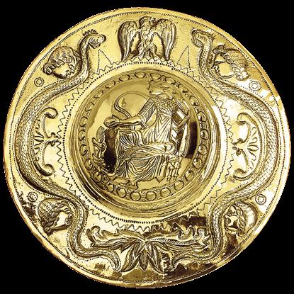 Embossed Brass Roman Shield Boss
