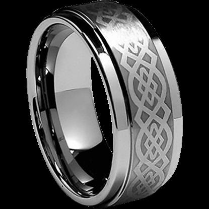 Stainless Steel Viking Scrollwork Ring