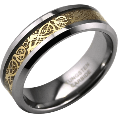 Gold Inlay Viking Ring