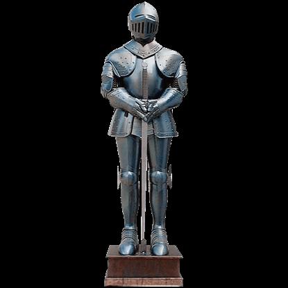 Blued Steel Medieval Armour