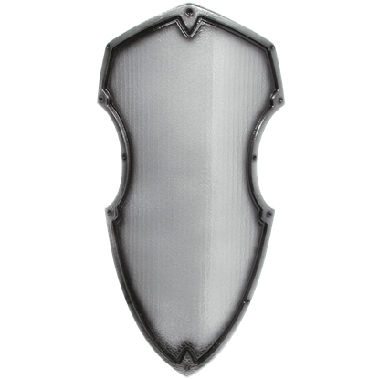 Medieval Hochritter Shield in Silver
