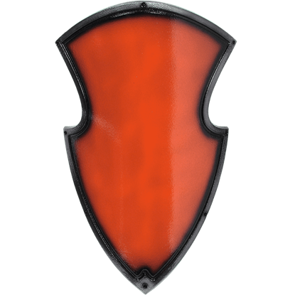 Red Medieval Knight LARP Shield
