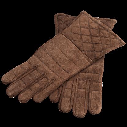 Suede Gauntlet Gloves