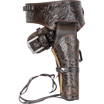 Deluxe Antiqued Brown Leather Holster