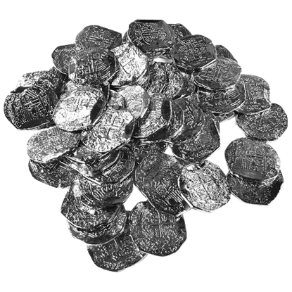 50 Large Silver Pirate Coins