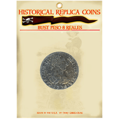 8 Reales Bust Peso Replica Coin