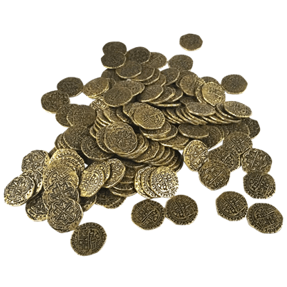 150 Small Golden Pirate Coins
