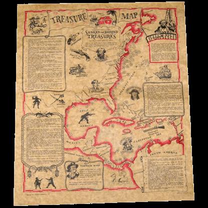 Buccaneers Treasure Map