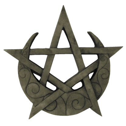 Crescent Moon Pentagram Plaque