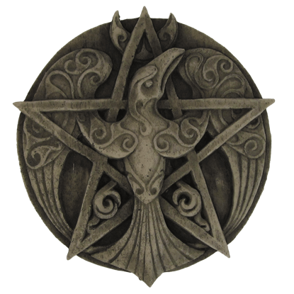 Crescent Raven Pentacle Plaque