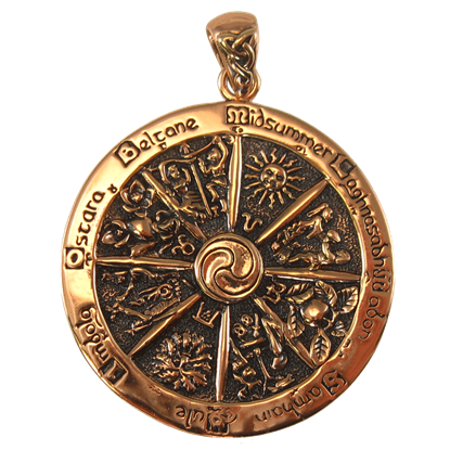 Copper Wheel of the Year Pendant