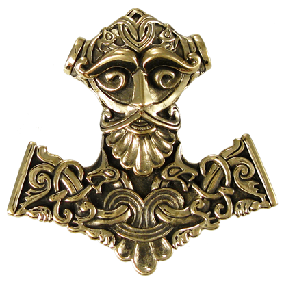 Bronze Thor's Hammer Pendant