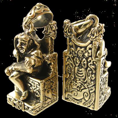 Bronze Seated Loki Pendant