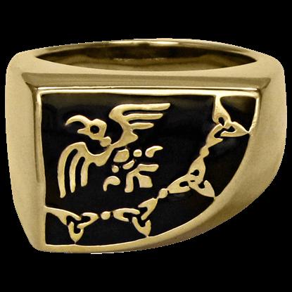 Bronze Raven Banner Ring