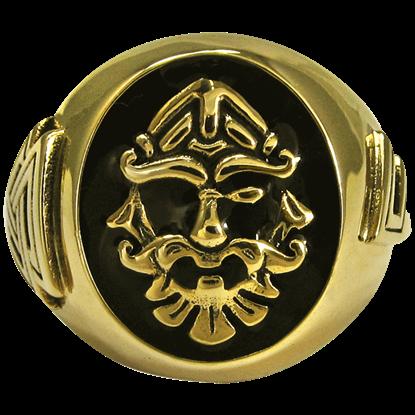 Bronze Odin Valknut Signet Ring