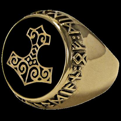 Bronze Thor Hammer Ring