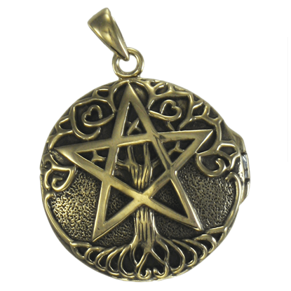 Bronze Tree Pentacle Locket