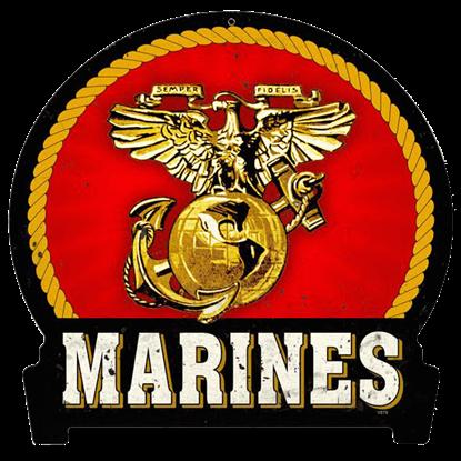 Marines Round Banner Sign