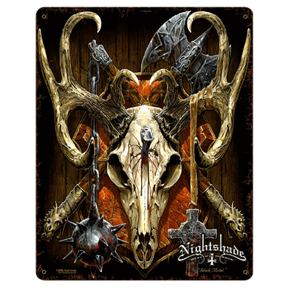 Black Metal Vintage Gothic Sign