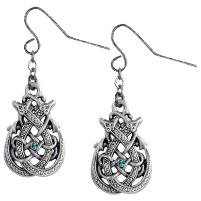Knotted Celtic Dragon Earrings