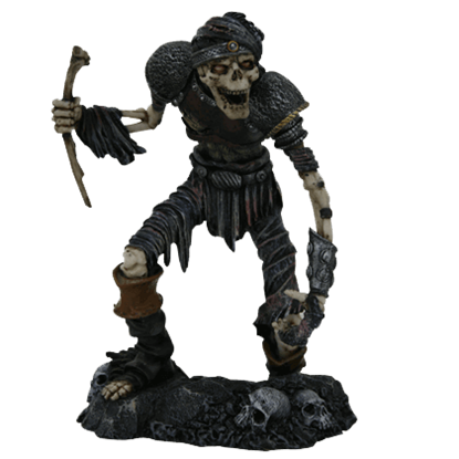 Decayed Skeletal Warrior Statue