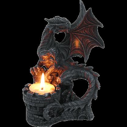 Dragon Castle Turret Candle Holder