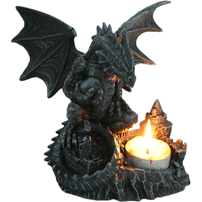 Dragon Castle Candle Holder