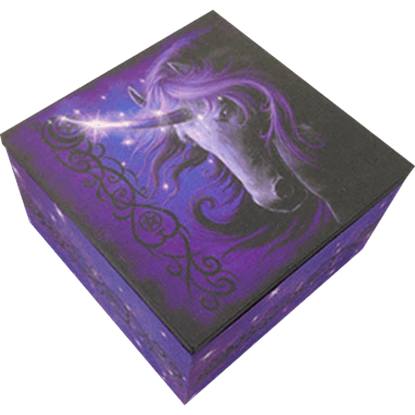Black Magic Unicorn Trinket Box