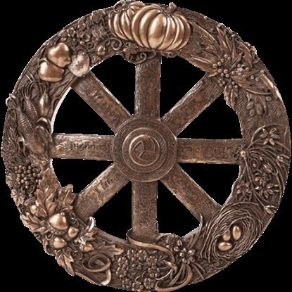 Bronze Wheel of the Year Plaque