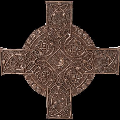 Bronze Elemental Celtic Cross Plaque