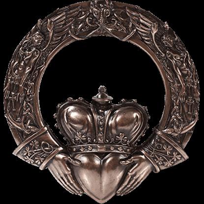 Bronze Celtic Claddagh Plaque