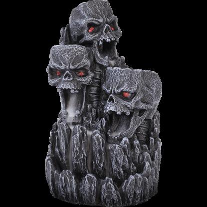 Gothic Skull Backflow Incense Burner