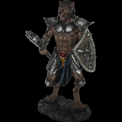 Dark Werewolf Warrior Statue