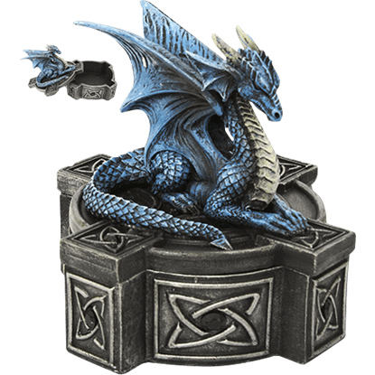 Celtic Blue Dragon Trinket Box