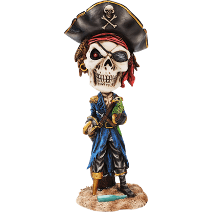 Pirate Captain Skeleton Bobblehead