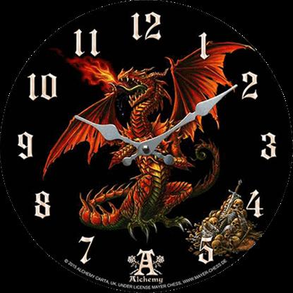 Skull Guardian Dragon Clock