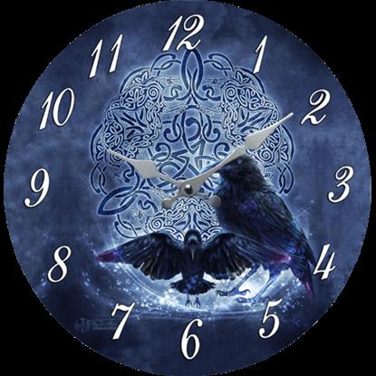 Celtic Raven Clock