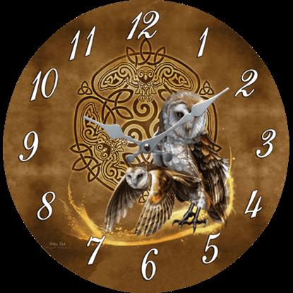 Celtic Owl Clock