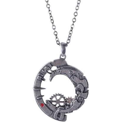 Crescent Moon Steampunk Necklace
