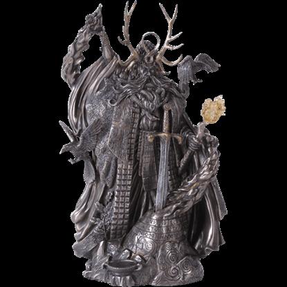 Dark Wizard Merlin Statue