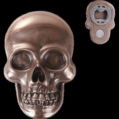Bronze Skull Bottle Opener