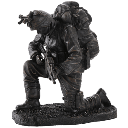 Praying Soldier Statue