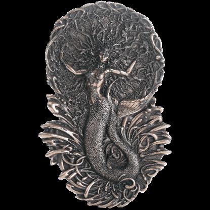 Bronze Celtic Goddess Aine Plaque