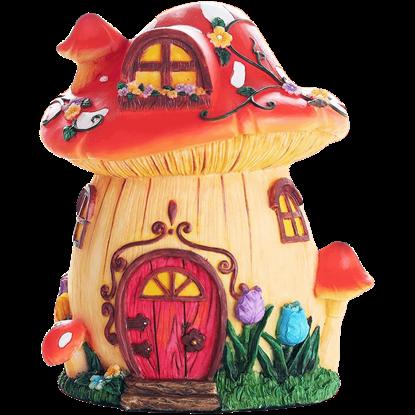 Fairy Mushroom Cottage Statue