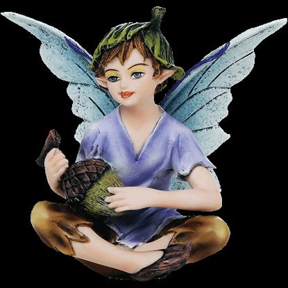 Acorn Fairy Boy Statue