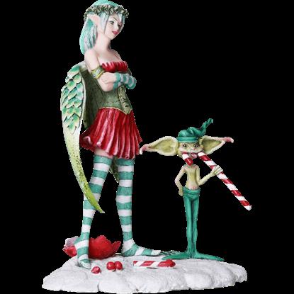 Naughty Christmas Fairy Statue